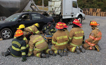 (7)</b> Having junior firefighters train as close as possible to the boundaries set by the state or company is key in keeping their interest.