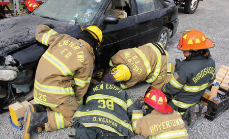 (8)</b> Having junior firefighters train as close as possible to the boundaries set by the state or company is key in keeping their interest.