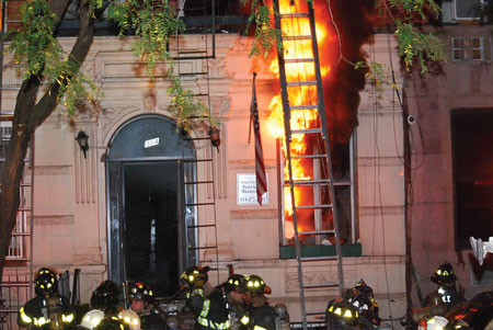 (6) The large volume of fire on the first floor early in this operation indicates the amount of fire members encountered in the building.