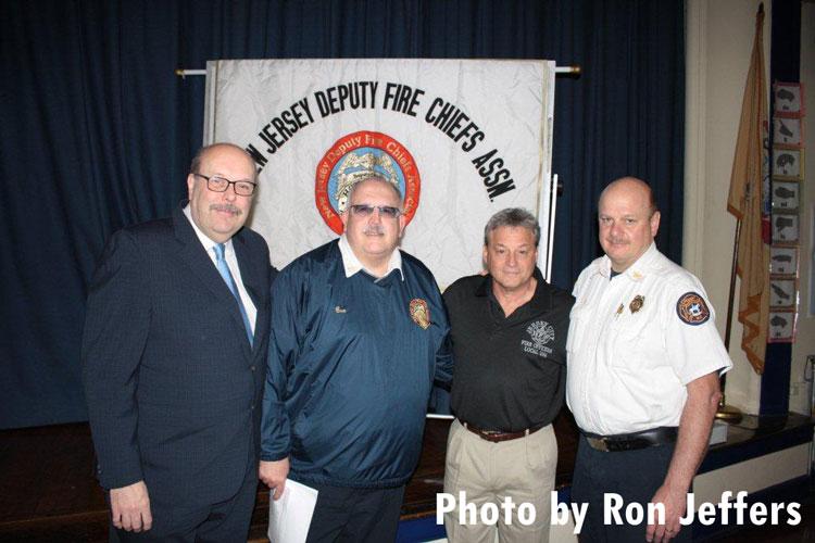 Glenn Corbett, left, and other members of the association