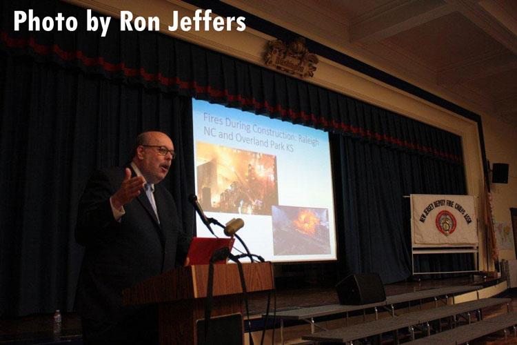 Prof. Glenn Corbett speaks on the dangers of lightweight construction