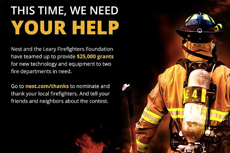 Nest, Leary Firefighters Foundation Offer $25K Grants for New Technology, Equipment for Fire Departments