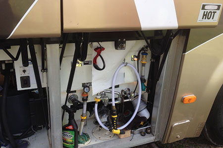 (3) The controls for the tanks containing drinking water and nonpotable wastewater.