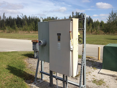 (8) The electric panel for all of the campsites.