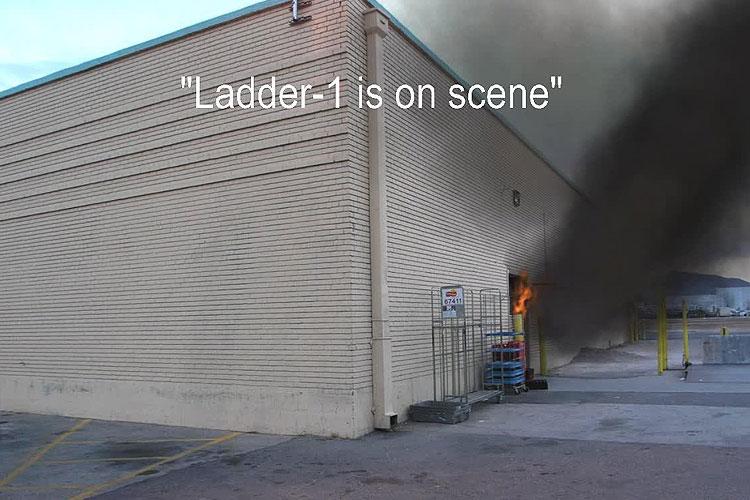 Fire in a supermarket