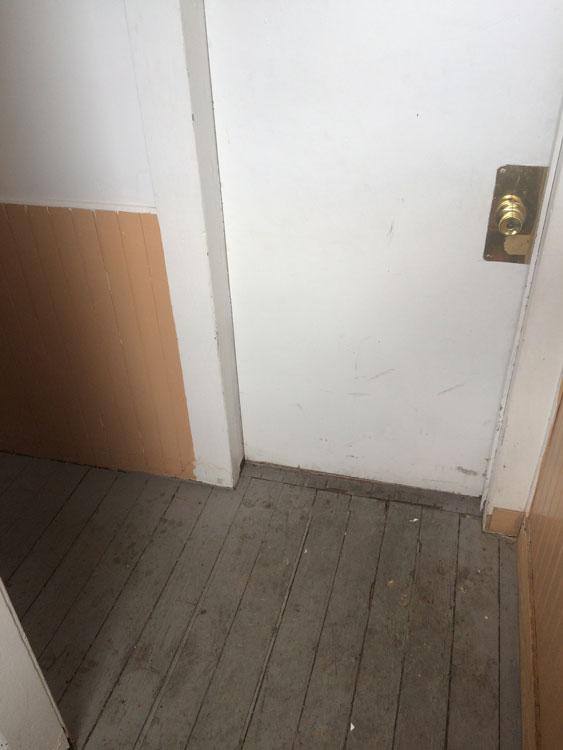 Interior hallway and door