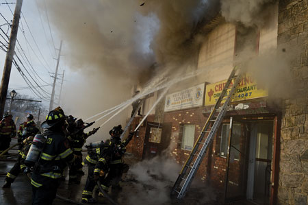 (2) After transitioning from an interior to an exterior attack, you must conduct a roll call. More firefighters will be on scene when requesting mutual aid or striking additional alarms. Although accounting for these firefighters using a roll call may be difficult and time-consuming, it must continue to be the IC's top priority.