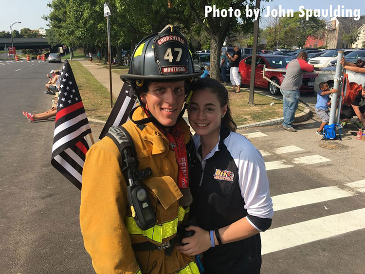 Firefighter who ran marathon in full gear with his girlfriend