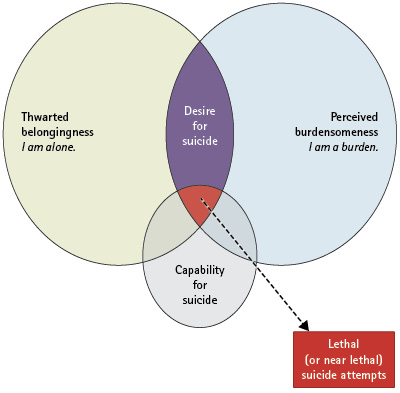 Figure 1. Assumptions of the Interpersonal Theory of Suicide