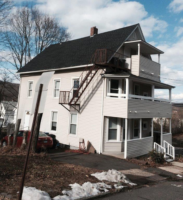 (3) If a fire escape is on the Alpha or Charlie side, this is a firm indication that there is only one staircase to the attic. (Photo by Chris Tobin.)