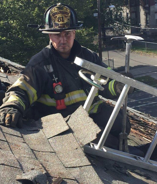 (7) A ladder beam pinned by a built-up roof. (Photo by Collin Whelan.)