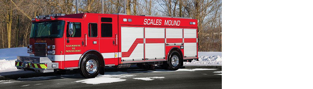 The Scales Mound (IL) Fire Protection District designed this PIERCE heavy rescue truck with a stronger engine and better gross vehicle weight than its predecessor to carry more equipment, says Captain John Duerr. The department's focus was to make organized storage for efficiency and future equipment purchases.