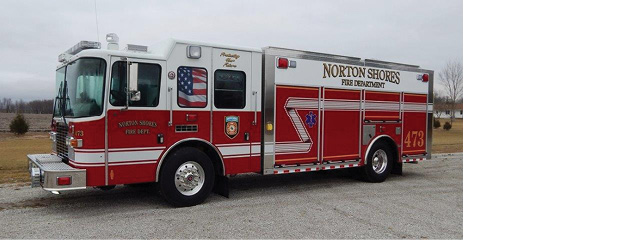 The Norton Shores (MI) Fire Department designed this ALEXIS rescue truck with added storage space and scene lighting which was lacking in their previous vehicle, says Chief Robert Gagnon. The department covers large stretches of U.S. Route 31 and miles of Lake Michigan's dunes and beaches. The unit responds to fires; medical calls; motor vehicle accidents; and technical, water, and dive emergencies.
