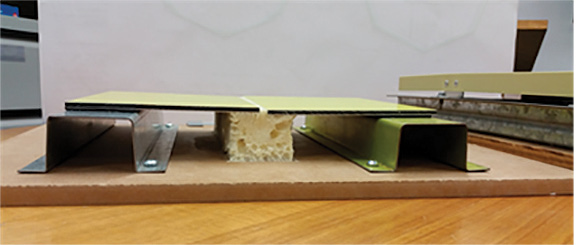 (4) A cross-section of panels installed using the Direct Stick method. (Photo by author.)