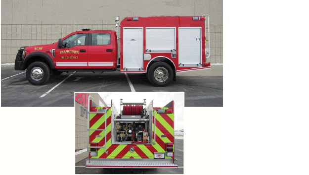 The Franktown (CO) Fire Department uses this MIDWEST quick attack vehicle as a first-out unit for structure fires and a secondary suppression unit as well as a wildland apparatus, says Deputy Chief David Woodrick. The department services a state park with hiking and climbing trails and uses the four-wheel-drive during snow storms and blizzards.