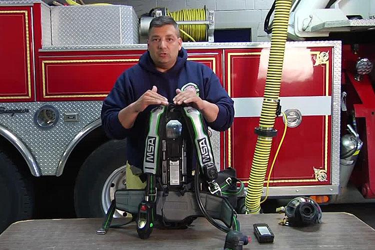 Joe Alvarez and firefighter SCBA