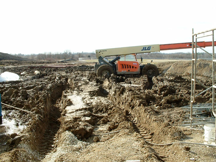 Ruts at a work site