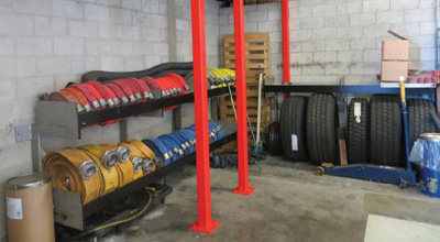 (3)Our permanent hose and spare tire racks remained during and after the construction of the prop.