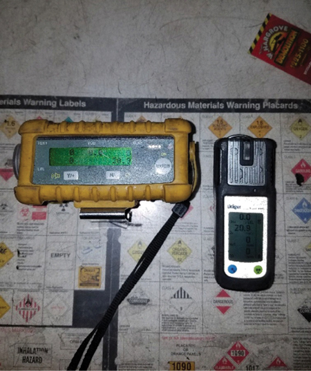 (2) Atmospheric meters determine if the environment is safe for personnel to operate in without masks. You can also determine whether civilians can reoccupy a structure.