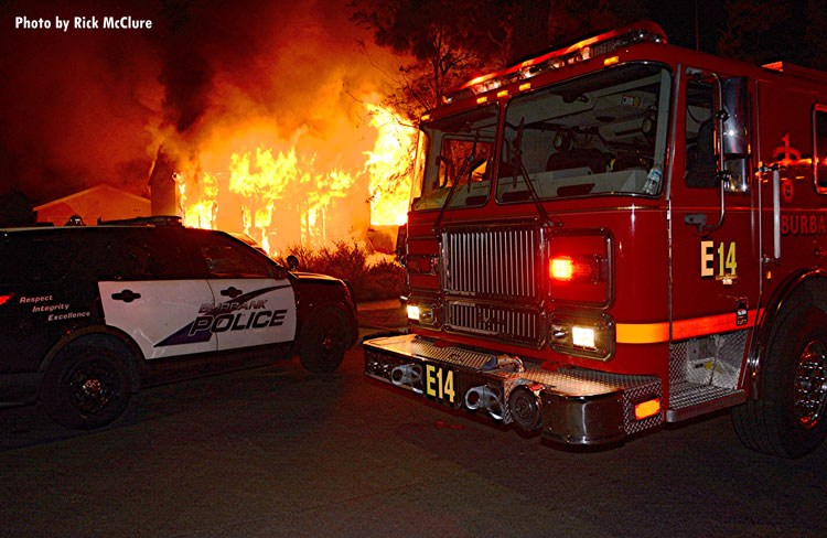 Burbank house fire