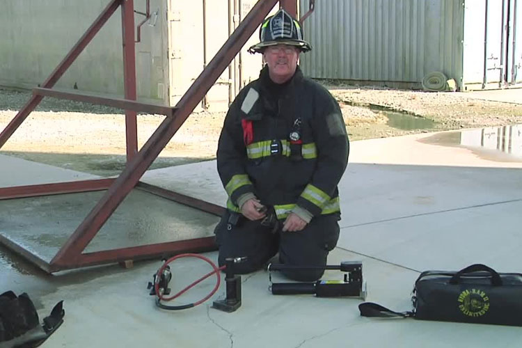John Simpson on hydraulic forcible entry tools