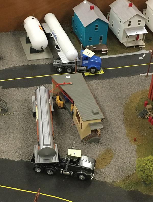 A hazmat truck spill.