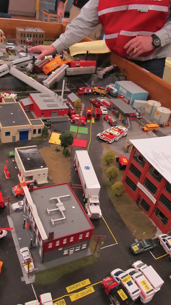 Detailing a mass-casualty incident.