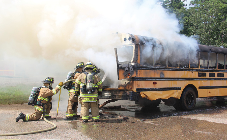 Overhaul operations on large vehicle fires are personnel intensive and time consuming. The incident commander should consider having fresh crews respond to perform these operations. Using crews fatigued from the initial attack operations can often lead to firefighter injury.