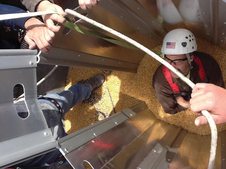 The rescue tube.