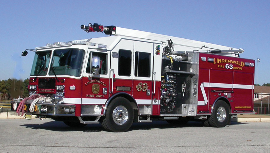 The Lindenwold (NJ) Fire Department has in service the first KME Talon pumper with the High-Reach Extendable Turret device.