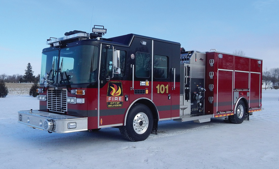 The Belvidere (IL) Fire Department designed this ALEXIS rescue pumper to respond to EMS, hazmat, motor vehicle accidents, and other rescue calls besides structure fires.
