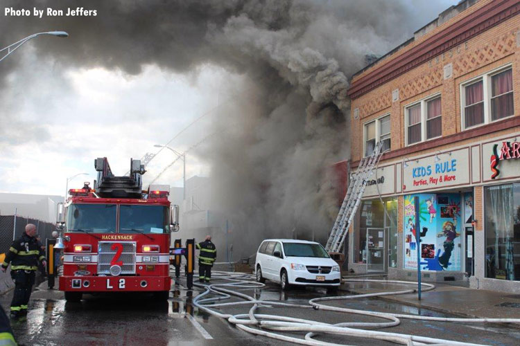 Fire in downtown Hackensack