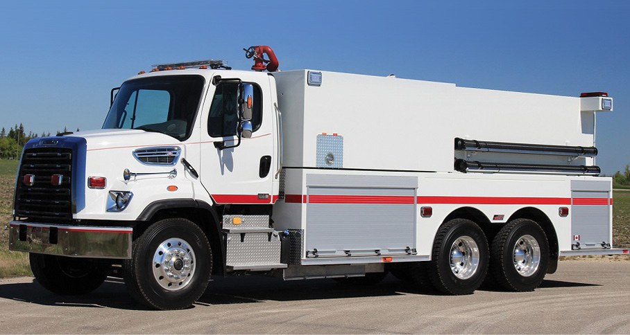 The Fairview (Alberta, Canada) Fire Department uses this FORT GARRY FIRE TRUCKS tanker to protect a primarily rural area.