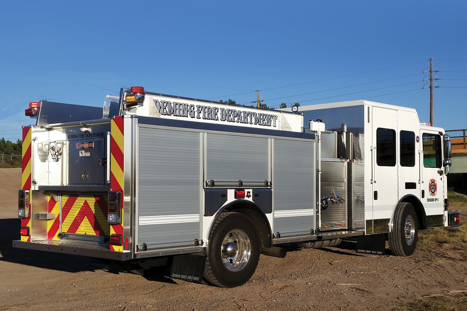 The City of Deming (NM) Fire Department designed this HME pumper to fight structure and vehicle fires and respond to service calls within city limits, says Chief Raul Mercado.