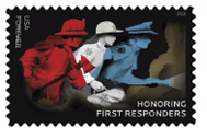 The U.S. Postal Service is honoring firefighters, law enforcement officers, emergency medical services professionals, and other emergency personnel with the Honoring First Responders Forever stamp.