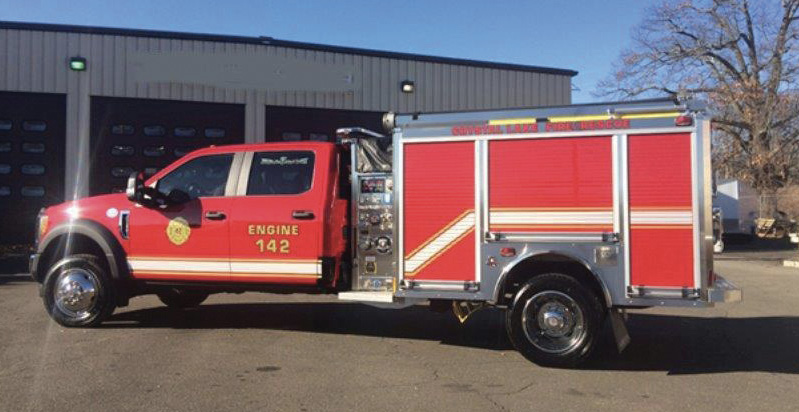 The Crystal Lake Fire Company (Ellington, Connecticut) protects a lake region community with many narrow roads.