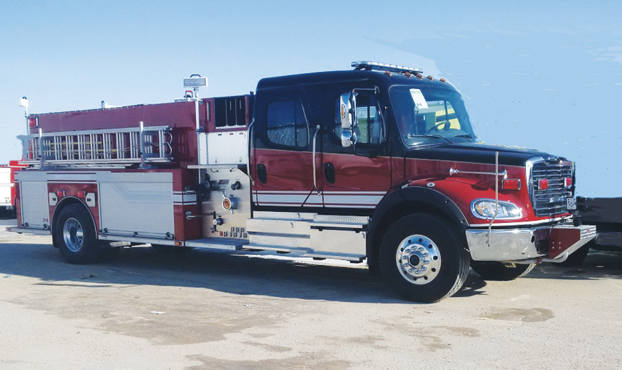 The Whitehorse (Yukon, Canada) Fire Department uses this FORT GARRY FIRE TRUCKS Crusader pumper/tanker as a first-out unit for structure and wildland fires outside of the department's hydranted areas, says Firefighter Oliver Halickman.