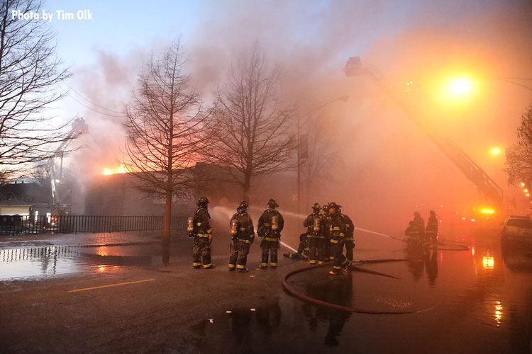Firefighters at Chicago fire
