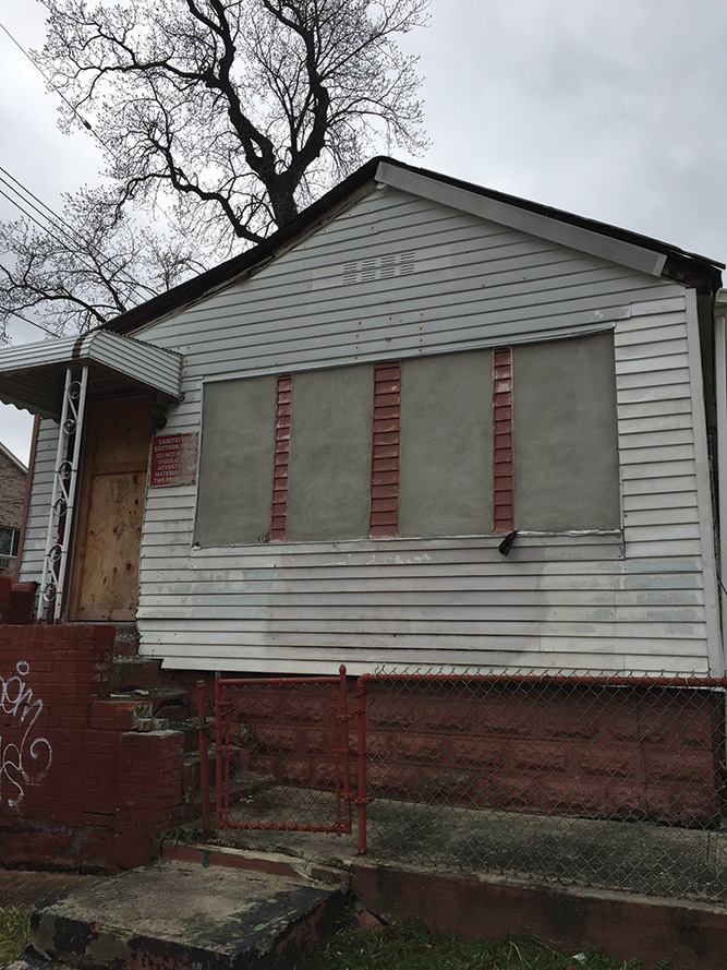 (3) A typical one-story vacant wood-frame (Type 5) private dwelling with a possible life hazard.