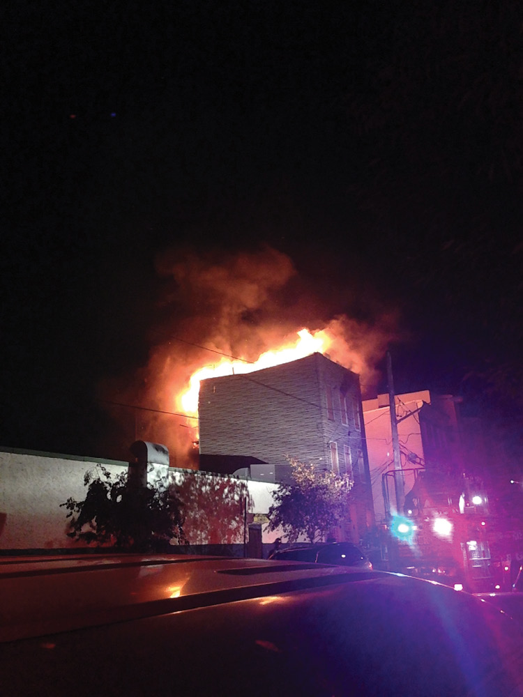 (19) An exterior attack was employed at this fire in a vacant wood-frame structure.