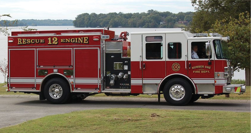 The Number One Fire Department, Gallitin, Tennessee, uses this PIERCE rescue pumper as a first-out unit to all fire, rescue, medical, motor vehicle accident, and hazmat calls. Captain Cole Eddy says the unit is also used as an advanced life support engine.