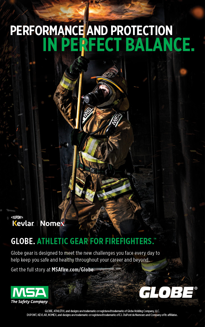 MSA's Globe ATHLETIX™ turnout gear deploys new material technology with unique stretch fabrics to provide a body-contoured fit that is lighter weight with less bulk and an unprecedented range of motion. It's like nothing you've ever experienced.