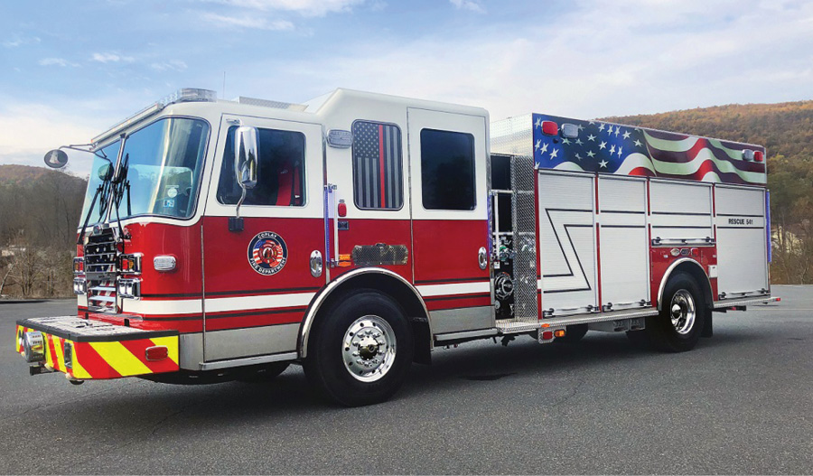 The Coplay (PA) Fire Department uses this KME rescue pumper for general firefighting and is the department's primary truck for response to motor vehicle accidents, says Chief Matt Buskaritz.