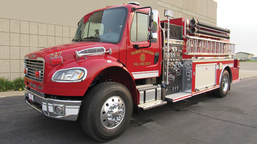 The Marion Township Fire Department, Greensburg, Indiana, protects a rural, nonhydranted area.