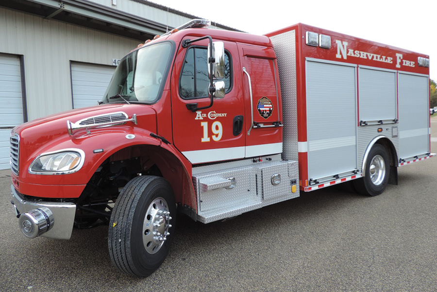 The Nashville (TN) Fire Department uses this MARION BODY WORKS air unit to provide support services at fires and other emergency incidents, according to Public Information Officer Joseph Pleasant.