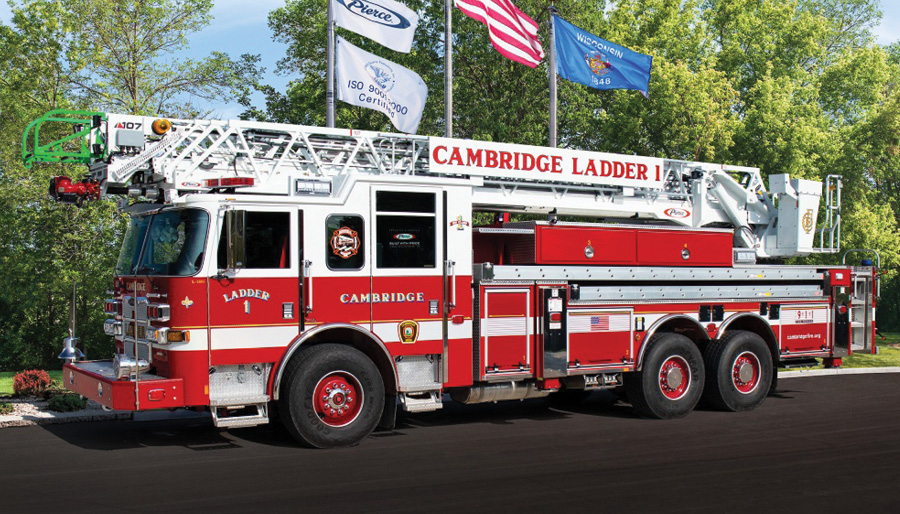 The Cambridge (MA) Fire Department has placed in service this PIERCE Ascendant aerial.