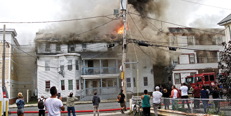 The Springfield Street fire. (Photo by 2011Stormphotography.)