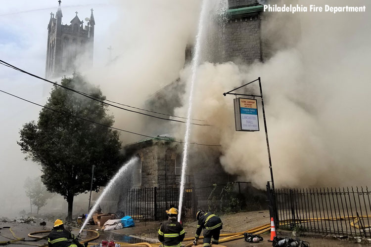 Philly church fire