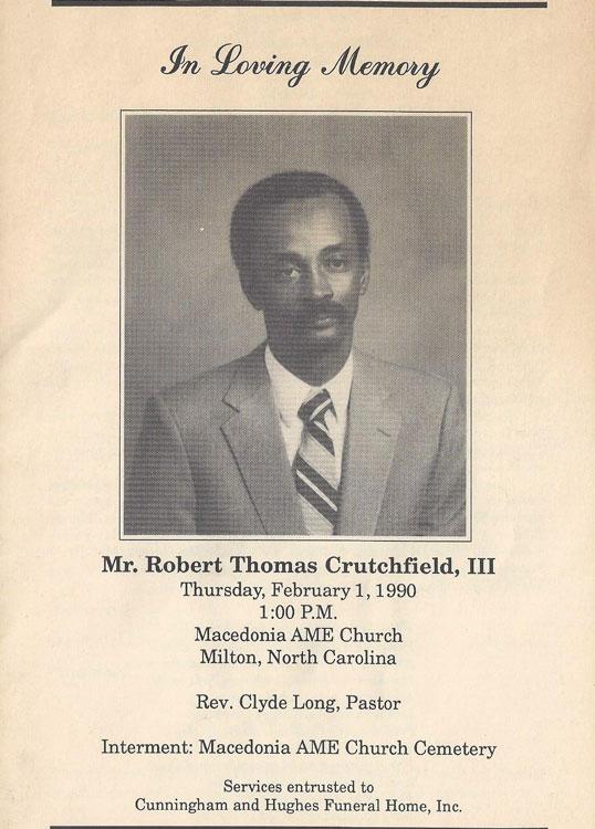 Robert Thomas Crutchfield, III
