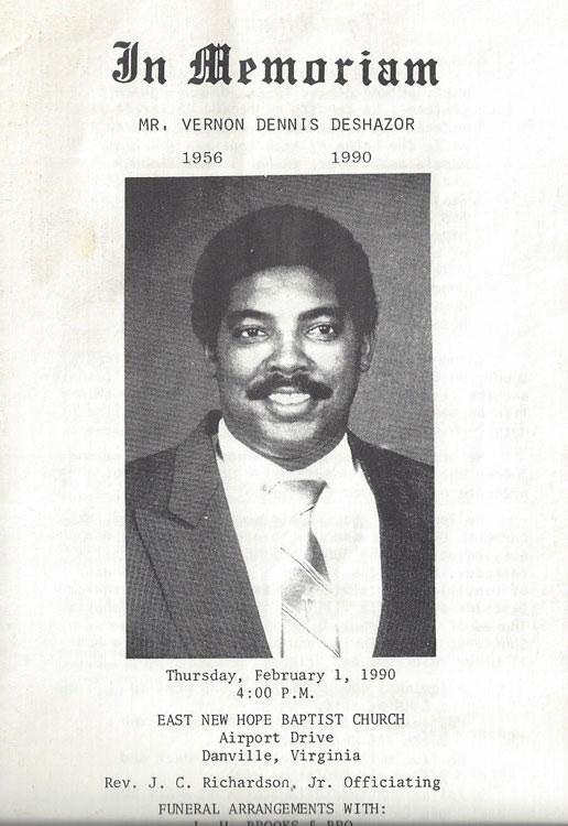 Vernon Dennis DeShazor